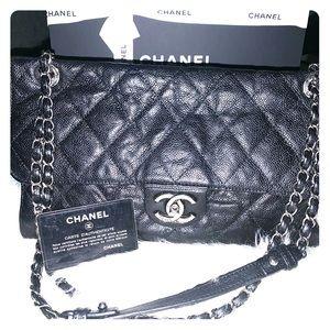 Authentic Chanel Single Flap Rue Cambon